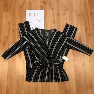NWT Express Striped Jumpsuit